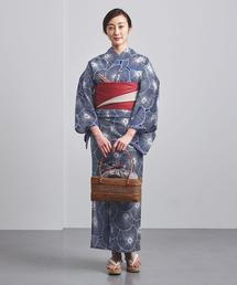 【別注】<竺仙(ちくせん)>万寿菊 綿絽地染納戸 浴衣