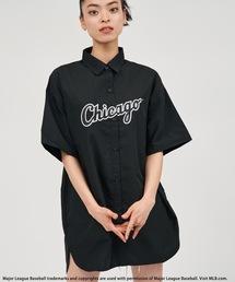 【MLB】BIGハーフスリーブシャツブラック
