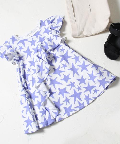 【coen キッズ / ジュニア】STARフリルワンピース
