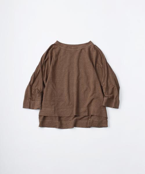 リネンのビッグTシャツ