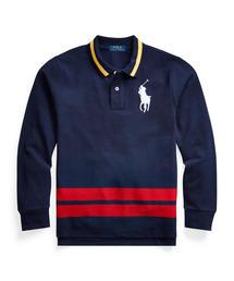 Polo Ralph Lauren Childrenswear(ポロラルフローレンチャイルドウェア)のコットン メッシュ ロングスリーブ ポロシャツ(ポロシャツ)