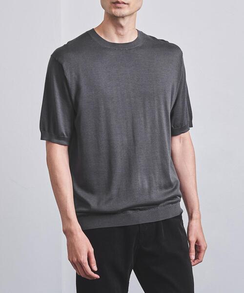 <UNITED ARROWS> コットン シルク ニット Tシャツ