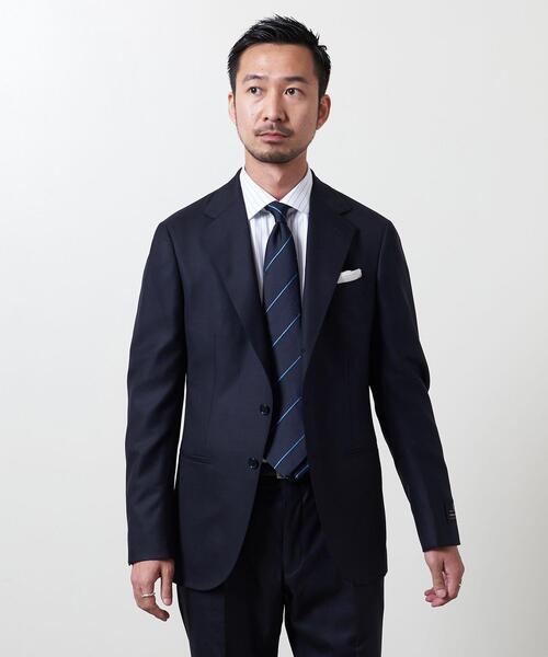 <UNITED ARROWS>タスマニアンウール サージ 3ボタン スーツ S-MODEL