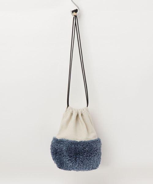 Lilas Campbell(リラキャンベル)の「Lilas Campbell Tfut stringbag(ハンドバッグ)」|ブルー