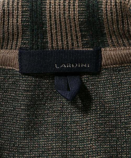 LARDINI / ラルディーニ ジャガードストライプニットジャケット