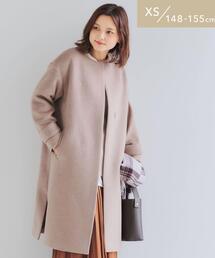 [ XS / H148-155cm ] ★★FFC アンゴラビーバー スリット ノーカラー コート