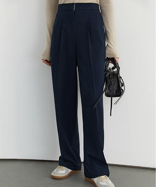 【Fano Studios】High waist 2 tack slacks FD20K013