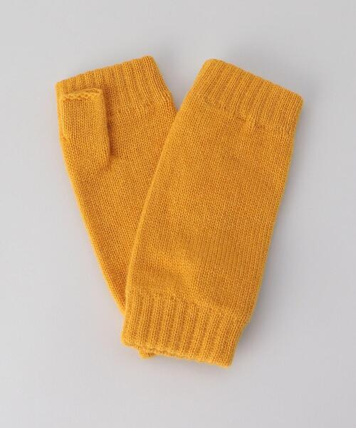 <Johnstons of Elgin>CASHMERE KNITTED WRISTWARM/グローブ.