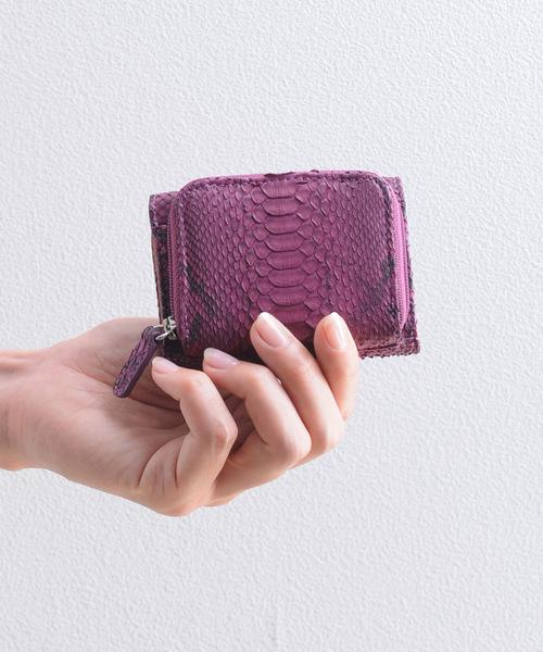 [mieno]パイソンレザーミニ財布