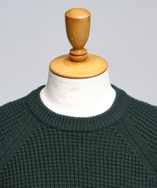 ワッフル編みスポンジメリノニット