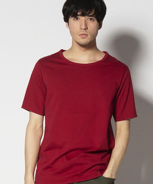 VIRGOwearworks(ヴァルゴウェアワークス)の「PERFECTION HIDDEN V TEE(Tシャツ/カットソー)」 レッド