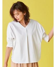 FABIA(ファビア)のシルケットスムースドルマンプルオーバー(Tシャツ/カットソー)