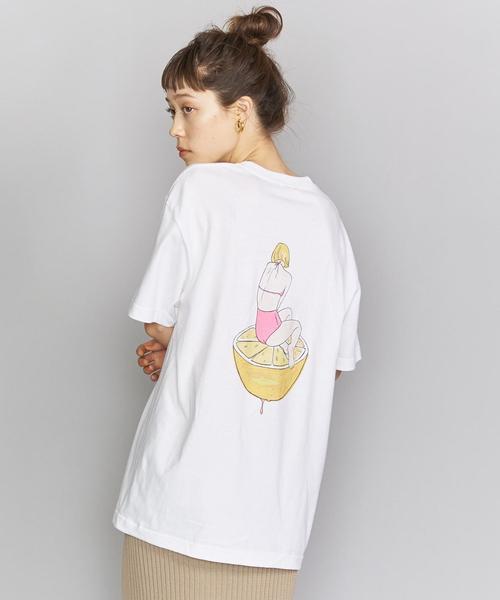 【別注】<maegamimami>GIRL ショートスリーブTシャツ