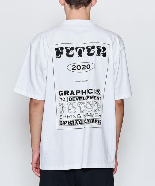 <FUTUR> MW G FIT TYPO TEE/Tシャツ □□