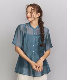 BY シアーペプラムショートスリーブシャツ ◆