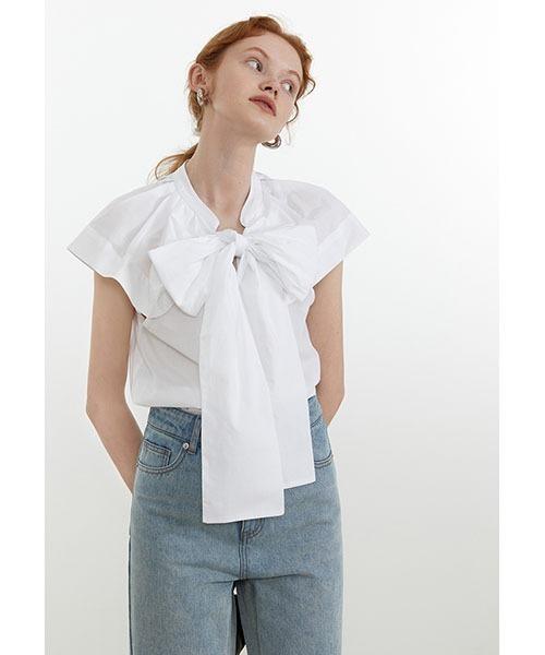 【Fano Studios】【2021SS】Big ribbon blouse FX21S242