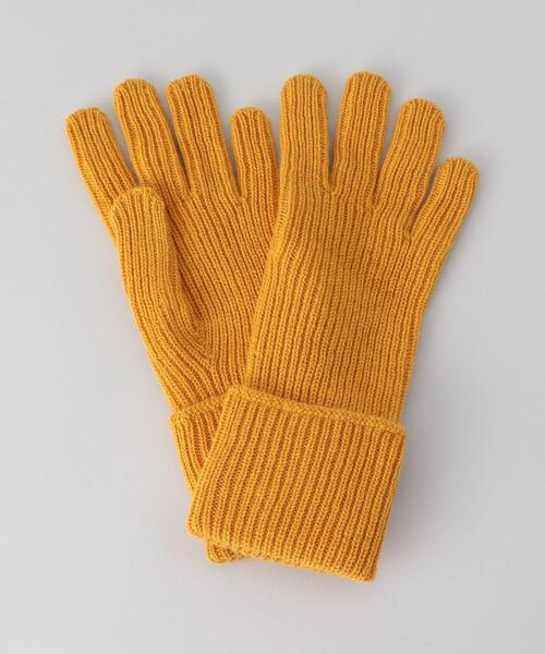<Johnstons of Elgin>CASHMERE RIBBED GLOVE WOMEN'S SIZE/グローブ.