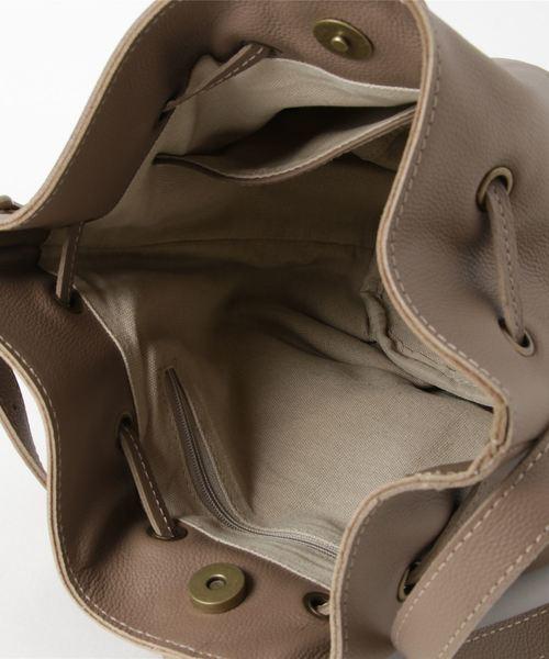 【toleur】カウレザー巾着ショルダー/11547