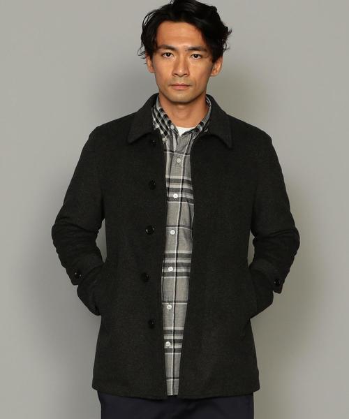 CM ビーバーメルトン ショートステンカラー コート