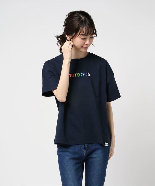 カラフル刺繍Tシャツ
