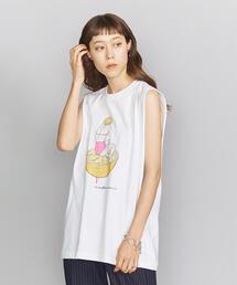 【別注】<maegamimami>GIRL ノースリーブTシャツ ◆