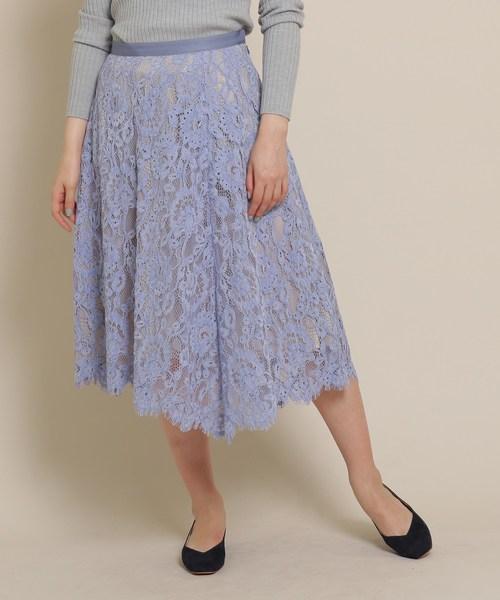 【売れ筋】 イレギュラーヘムレーススカート, ワカバヤシク 3e445acf