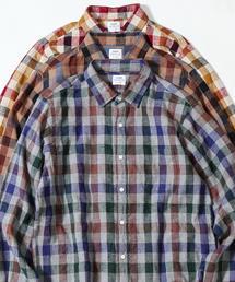 ウインターリネンチェックシャツ(WEB限定サイズXS有り)