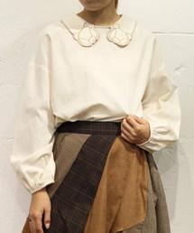 rivet & surge(リベットアンドサージ)のテディベア衿刺繍シャンブレープルオーバー(シャツ/ブラウス)