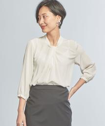 【WORK TRIP OUTFITS】★WTO D ツイストタック ブラウス