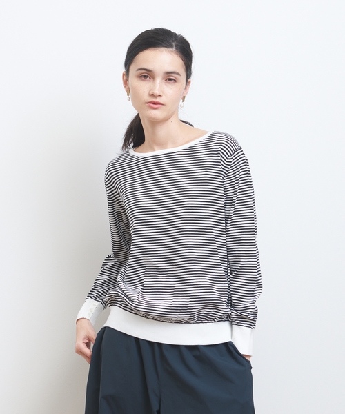 collex(コレックス)の「SUVINコットンプルオーバー(ニット/セーター)」|ホワイト
