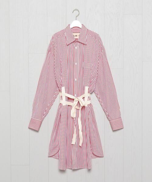 <PLAN C>STRIPE SHIRT DRESS/ワンピース.