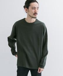 URBAN RESEARCH(アーバンリサーチ)のロングスリーブ度詰めワッフルルーズクルーネック(Tシャツ/カットソー)