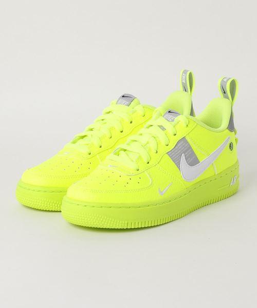 1f92d7f6885 Nike Air Force 1 LV8 Utility GS White Black Tour Yellow Juniors AR1708 100