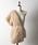 la belle Etude(ラベルエチュード)の「【LA BELLE ETUDE】ベルト付きフェイクチベットラムファーショール(マフラー/ショール)」|ベージュ