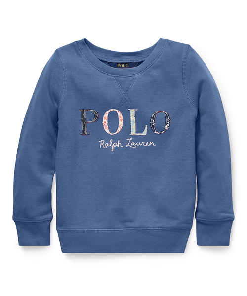 フローラル Polo テリー スウェットシャツ