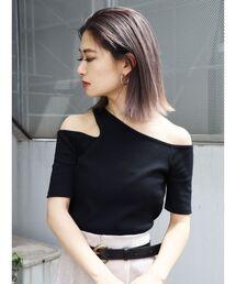 EMODA(エモダ)のサイドネックTシャツ(Tシャツ/カットソー)