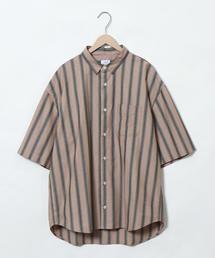 マルチストライプワイドフィットシャツ