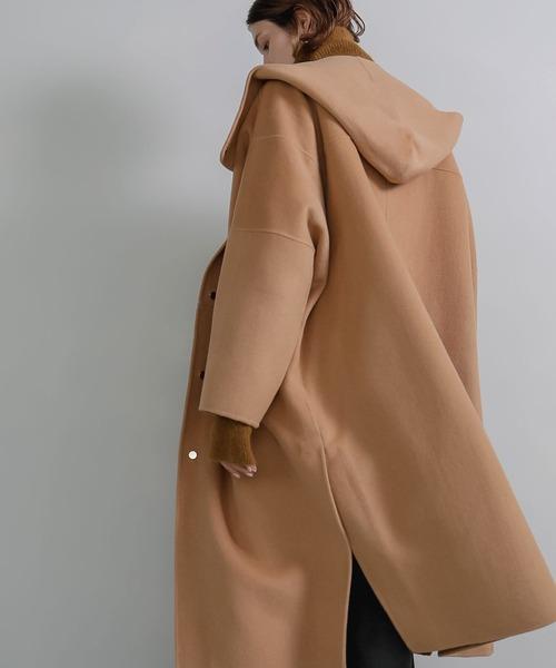 【chuclla】 Hoodie handmade wool long coat sb-2 cd-1 chw1367