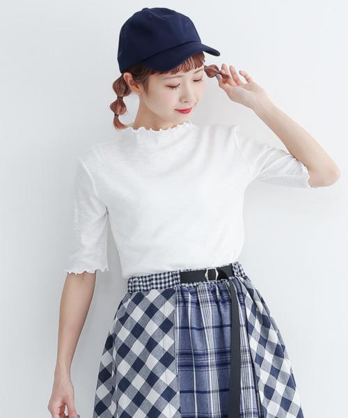 merlot(メルロー)の「メローエッジカットソー1417(Tシャツ/カットソー)」|オフホワイト