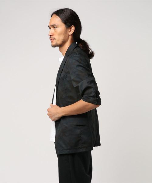 ドットエアー 五分袖テーラードジャケット