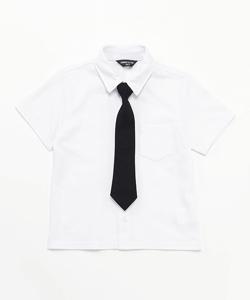 a606bcfba94c2 COMME CA ISM(コムサイズム)のネクタイ付き 半袖シャツ (100cm~130cm)