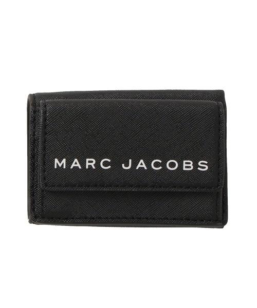 MARC JACOBS(マークジェイコブス)の「SAFFIANO/ブランディッド サフィアノ ミニトライフォールド ウォレット ミニ財布 三つ折り(財布)」 ブラック