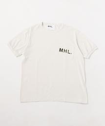 【別注】 <MHL.> T-GDN 1POC LOGO/Tシャツ