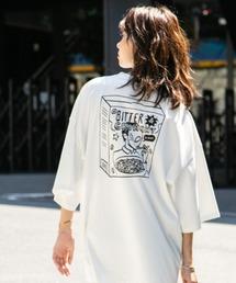 Not So Ape(ノットソーエイプ)のビッグシルエット  シリアルバックプリント Tシャツ (UNISEX)(Tシャツ/カットソー)