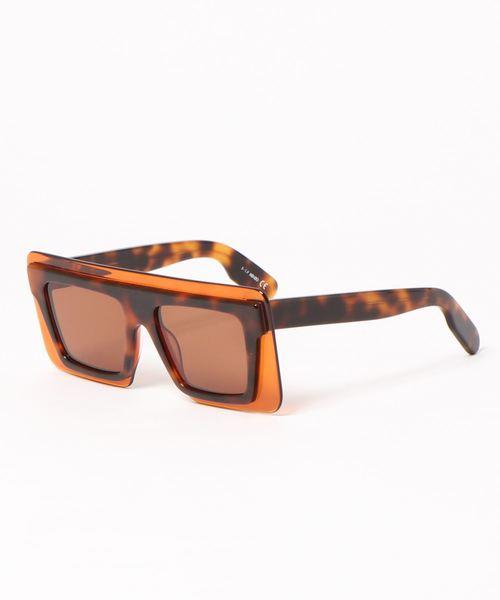 Square Overlens Acetate Frame Sunglasses I