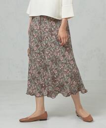 <ma couleur>ヴィンテージフラワー マーメイドスカート