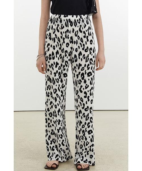 【Fano Studios】【2021SS】Leopard print pleats easy pants FX21K088