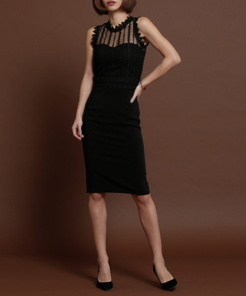 My shawty(マイシャウティー)の「sofia lace dress(ドレス)」|ブラック