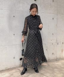 AMERI(アメリ)のSPARKLE DOT DRESS(ドレス)