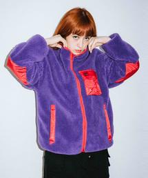 X-girl(エックスガール)のX-girl x MADE ME REVERSIBLE FLEECE JACKET(ブルゾン)